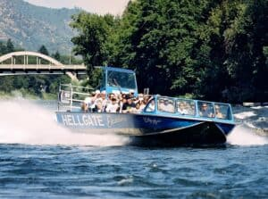 hellgate jetboat excursions trips down the Rogue River and Hellgate Canyon in Southern Oregon