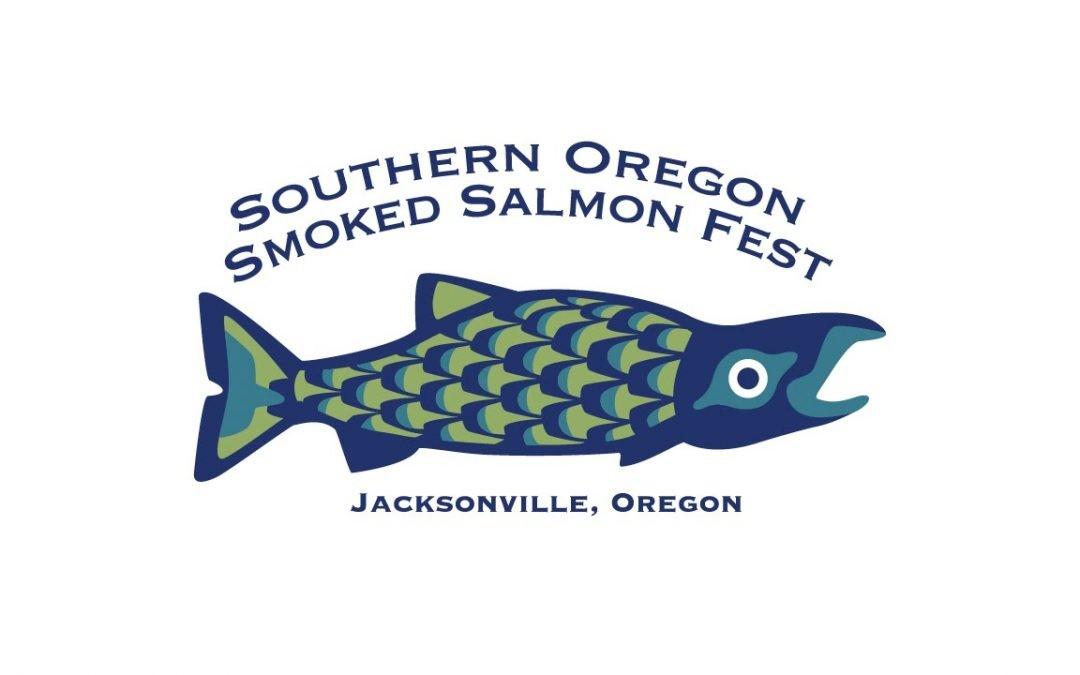 logo of smoked salmon festival in Jacksonville Oregon
