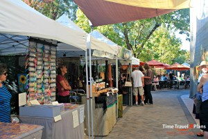 Downtown Ashland Saturday artisan market on the creek.