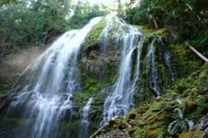 Beautiful waterfall on White Rabbit Hiking Trail Ashland Oregon
