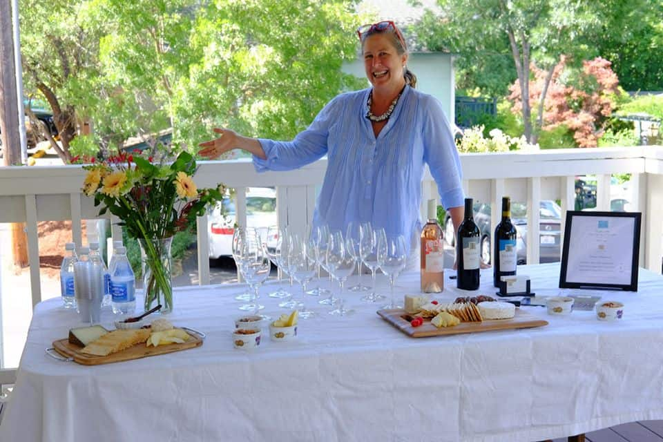 wine tasting for guests at the bayberry inn b and b by innkeeper